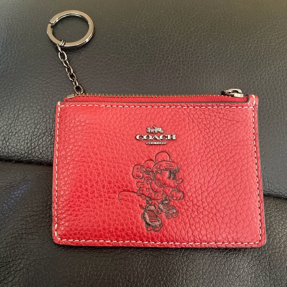 Coach Handbags - COACH Minnie Mini ID Skinny Leather  Wallet
